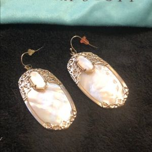 Kendra Scott mother of Pearl large earrings